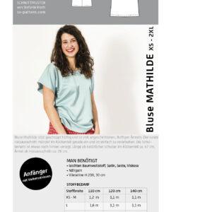 Bluse MATHILDE / Papierschnitt