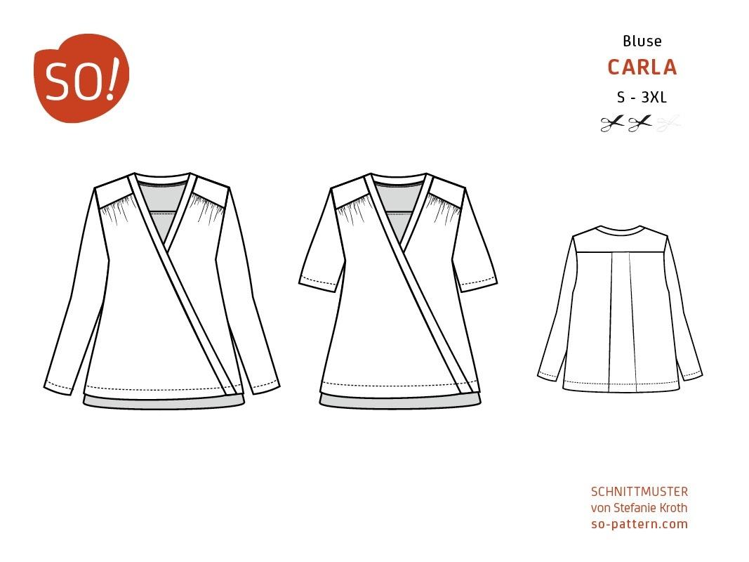 Bluse CARLA / Papierschnitt - SO Pattern