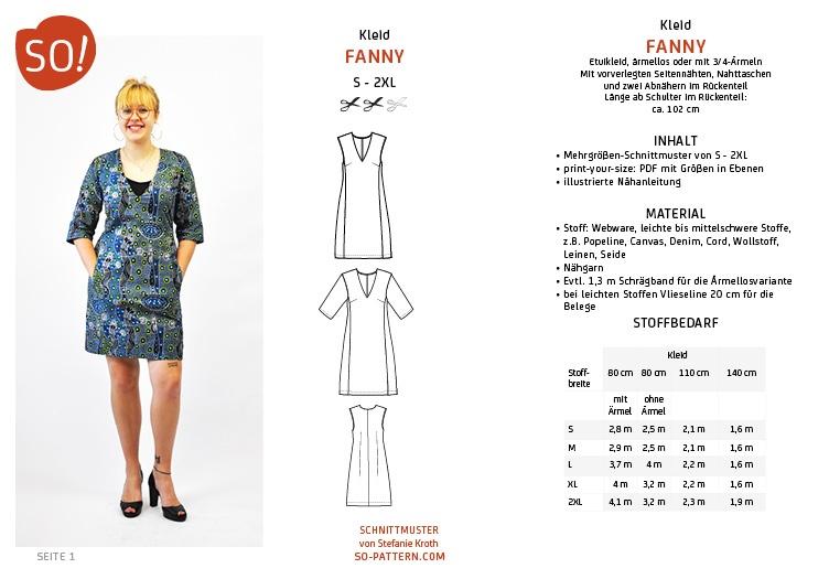 Neu im SO!-Club: Kleid FANNY - SO Pattern
