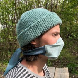 Mund-Nase-Maske als Schal zum Selbermachen