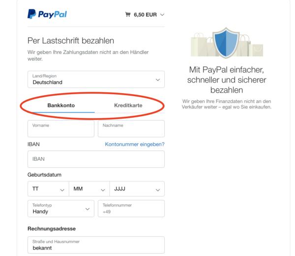 Paypal Lastschrift Geht Nicht