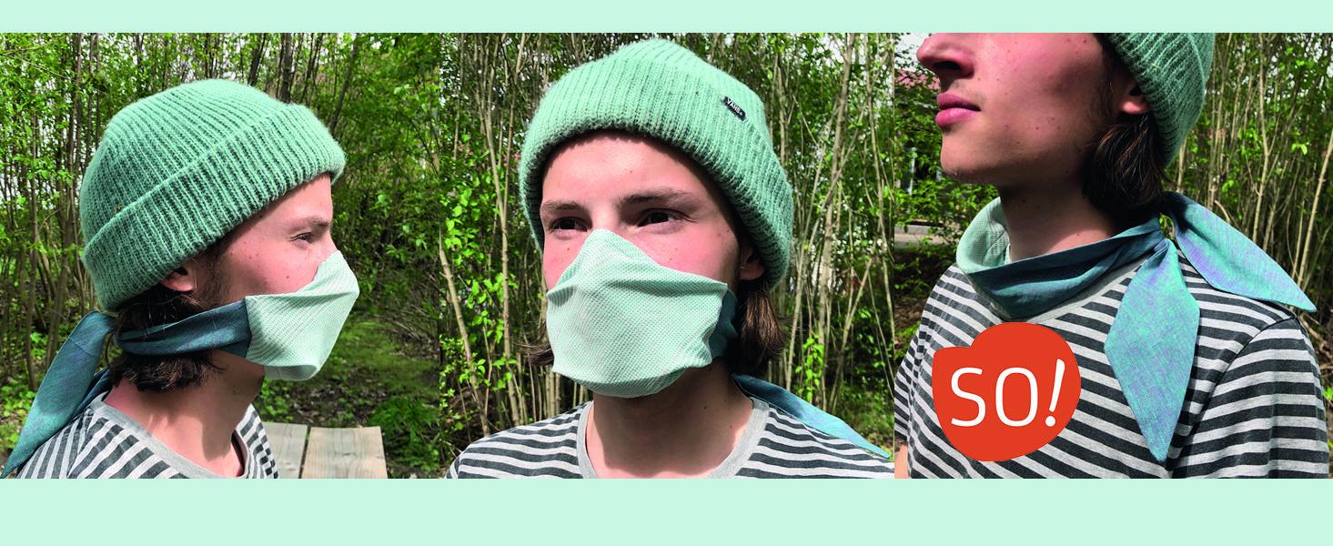 Mund-Nase-Maskenschal