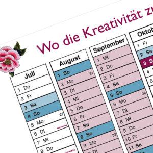 SO & Dirndl-Näh-Werkstatt Kalender für 2021