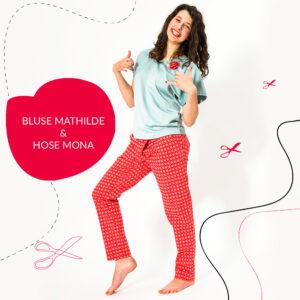 Kombination: Bluse Mathilde & Hose Mona / Papierschnittmuster